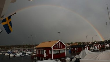 Rainbow Over Dock