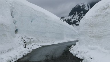 Snow Walls by Road