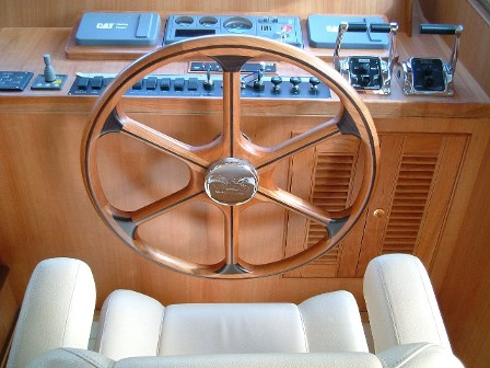 Ship Steering Wheel and Controls